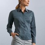 Ladies Care Fitted Poplin Shirt