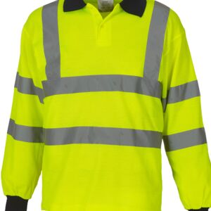 Hi-Vis Long Sleeve Polo Shirt Miniaturansicht