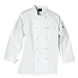 Long-Sleeve Knot Button Chef Coat Miniaturansicht