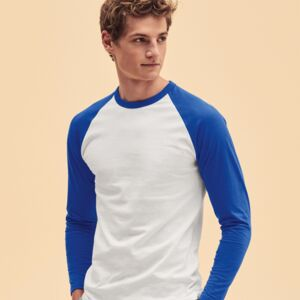 Long Sleeve Baseball T-Shirt, 160g, von FRUIT Miniaturansicht