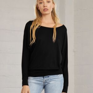 Flowy Off Shoulder Long Sleeve T-Shirt, 65% PES, von BELLA Miniaturansicht