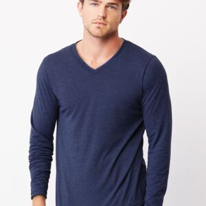 Triblend Long Sleeve V-Neck Tee, CA3425 von BELLA Miniaturansicht